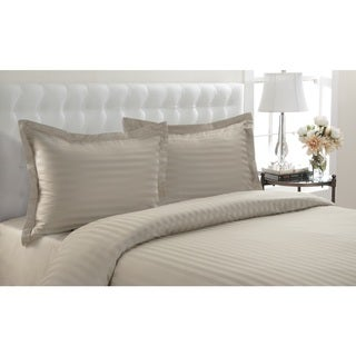 Andiamo Cotton Woven Stripe 3-piece Duvet Cover Set