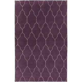 Hand-Knotted Jermaine Geometric Pattern Wool Rug (5' x 8')