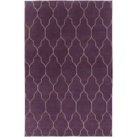 Hand-Knotted Jermaine Geometric Pattern Wool Area Rug - 5' x 8'