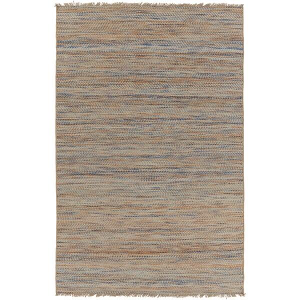 Hand-Woven Aileen Stripe Jute Area Rug (5' x 7'6)