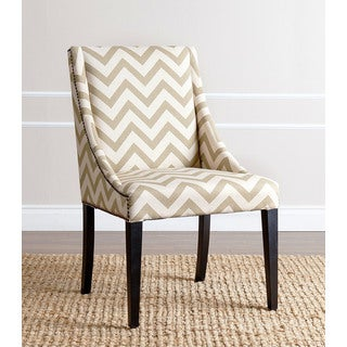 Abbyson Sara Gold Chevron Swoop Dining Chair