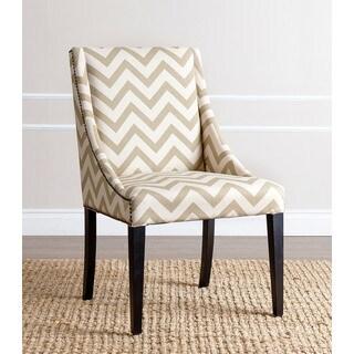 Abbyson Sara Gold Chevron Swoop Dining Chair