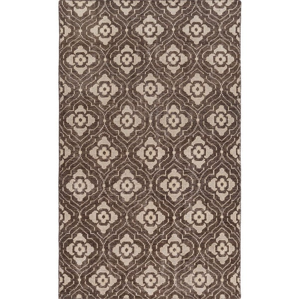 Hand Knotted Adyson Moroccan Trellis Wool Rug 3 3 X 5 3