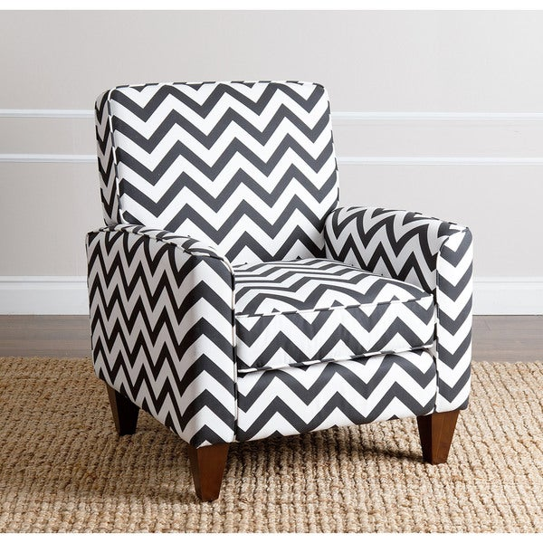 Abbyson Living Conway Chevron Black Fabric Armchair Free
