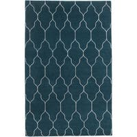 Hand-Knotted Jermaine Geometric Pattern Wool Area Rug - 8' x 11'