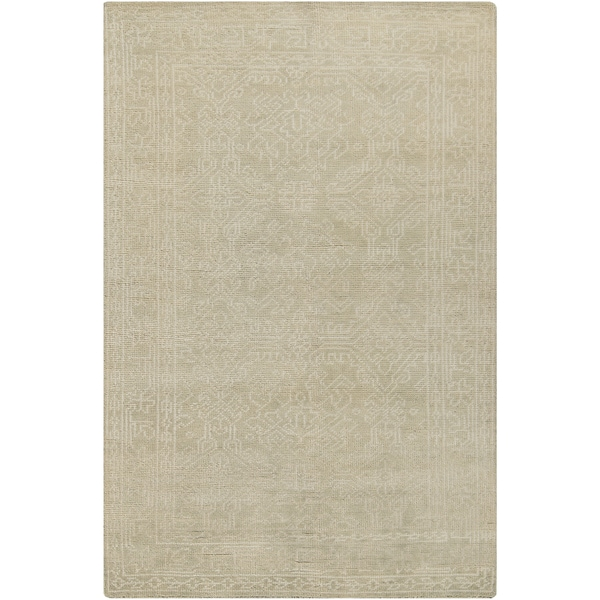 Hand-Knotted Millie Border Wool Area Rug - 9' x 13'