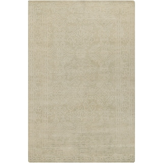 Hand-Knotted Millie Border Wool Rug (9' x 13')