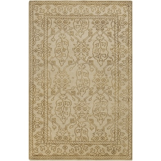 Hand-Knotted Meagan Border Wool Rug (9' x 13')