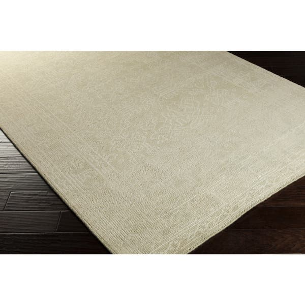 Hand Knotted Millie Border Wool Area Rug 5 6 X 8 6 Overstock 9836428