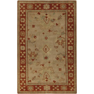 Hand-Knotted Demetrius Border Wool Rug (5'6 x 8'6)