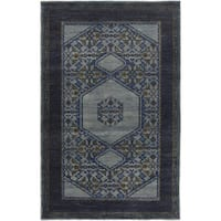 Hand-Knotted Marvin Border Wool Area Rug (5'6 x 8'6)
