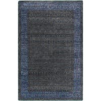 Hand-Knotted Marsha Border Wool Area Rug (5'6 x 8'6)