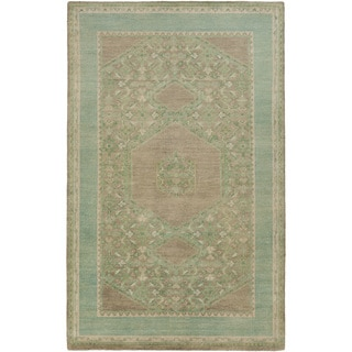 Hand-Knotted Marvin Border Wool Rug (3'6 x 5'6)