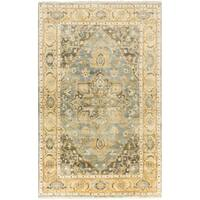 Hand-Knotted Cecilia Floral New Zealand Wool Area Rug - 5'6 x 8'6'