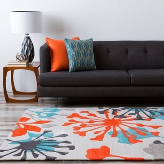 Hand-Tufted Elaina Floral Polyester Rug (8' x 11')