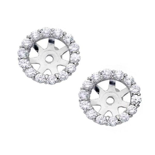 14k White Gold 4 5ct Tdw Diamond Stud Earring Jackets I J I2