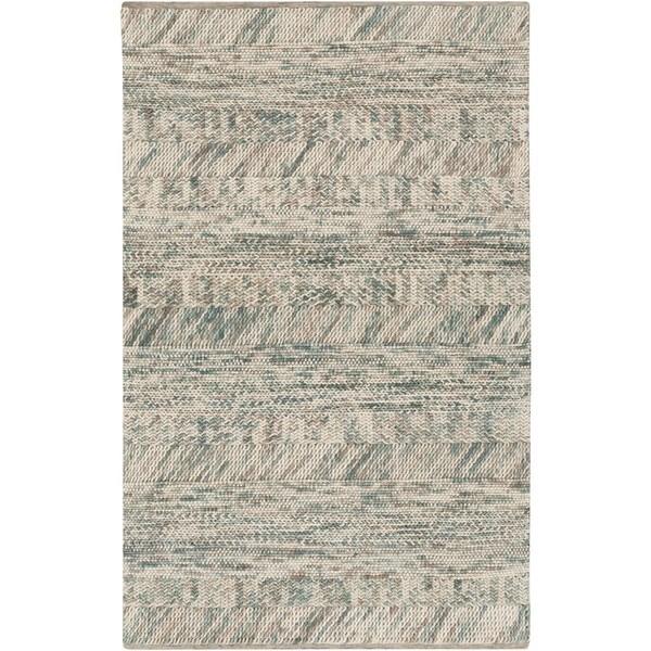 Hand-Woven Maureen Stripe Pattern Wool Area Rug (9' x 13')