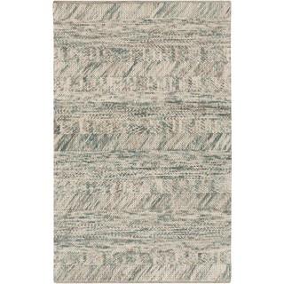 Hand-Woven Maureen Stripe Pattern Wool Rug (9' x 13')