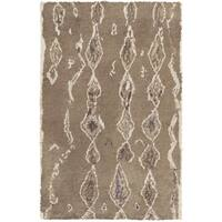 Hand-Knotted Terrance Abstrat Pattern Wool Area Rug - 2' x 3'