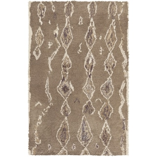 Hand-Knotted Terrance Abstrat Pattern Wool Rug (8' x 10')