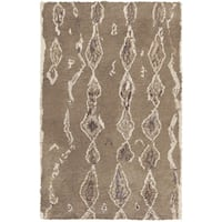 Hand-Knotted Terrance Abstrat Pattern Wool Area Rug - 8' x 10'