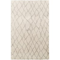 Hand-Knotted Thaddeus Shag Style Wool Area Rug - 8' x 10'