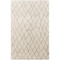 Hand-Knotted Thaddeus Shag Style Wool Area Rug - 5' x 8'