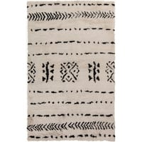 Hand-Knotted Priscilla Abstract Pattern Wool Area Rug - 5' x 8'