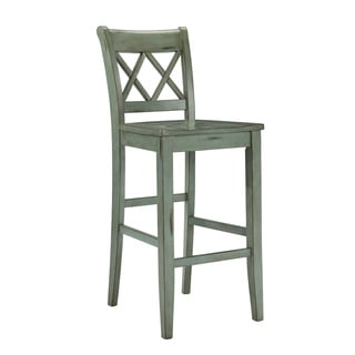 Signature Design by Ashley Mestler 30-inch Antique Blue Bar Stool (Set of 2)