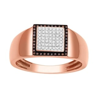 De Couer 10k Rose Gold 1/4ct TDW Diamond Men's Ring (H-I, I2)