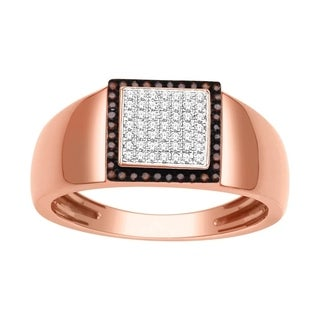 De Couer 10k Rose Gold 1/4ct TDW Diamond Men's Ring