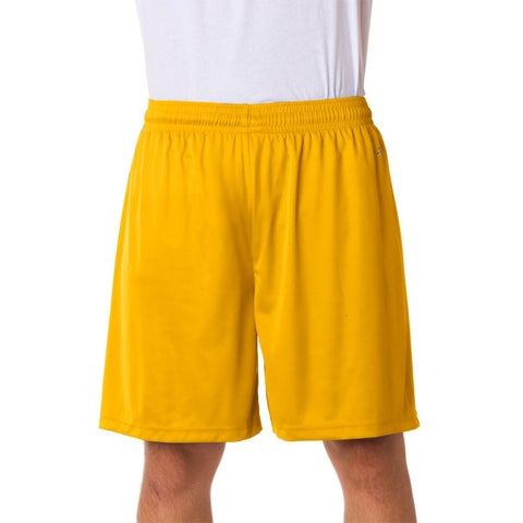 Men's Gold Athletic Sports Shorts