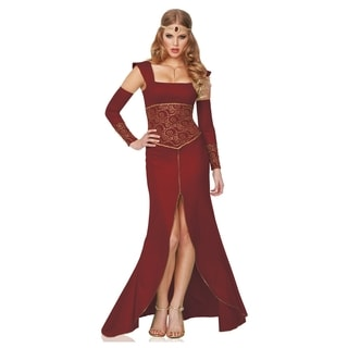 Medieval Women's Red/ Gold Dress Queen Costume