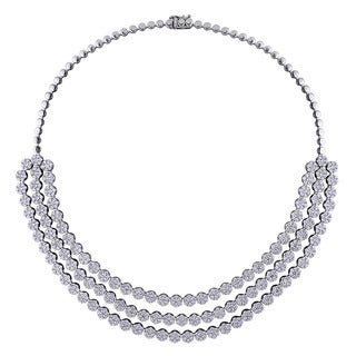 Miadora Signature Collection 18k White Gold 23 1/3ct TDW Diamond Necklace (G-H, SI1-SI2)