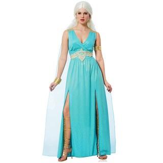 Medieval Women's Teal Queen Costume Dress