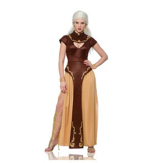 Medieval Women's Brown/ Gold Dress Costume