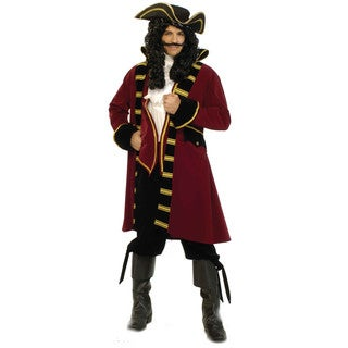 Men's Deluxe Red/ Black Pirate Costume (2 options available)
