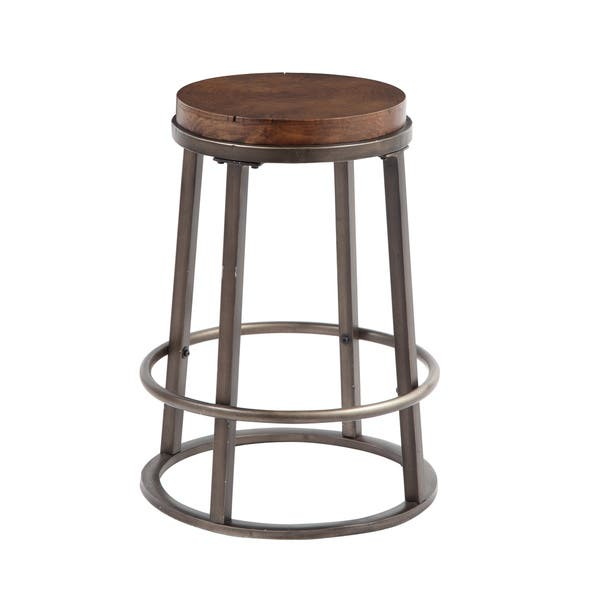 Phenomenal Signature Design By Ashley Glosco 24 Inch Wood And Metal Bar Stool Set Of 2 Uwap Interior Chair Design Uwaporg