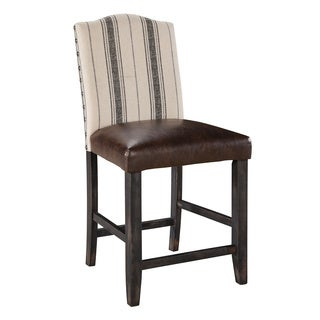 Signature Design by Ashley Moriann Upholster Two-tone Bar Stool (Set of 2)