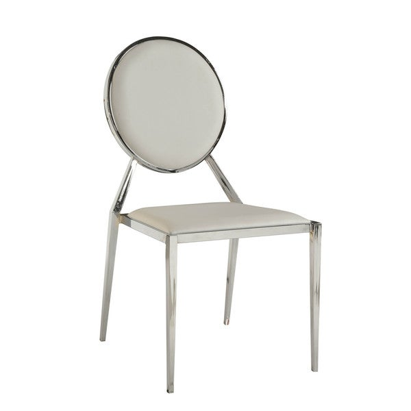 Somette Lydia White Oval Shaped Dining Chair (Set Of 4)