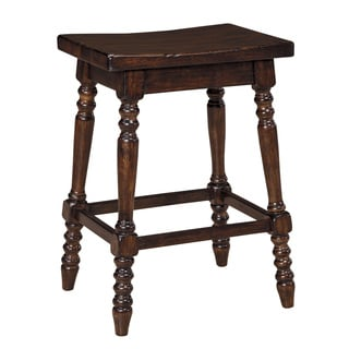 Signature Design by Ashley Moriann 24-inch Backless Brown Wood Seat Bar Stool (Set of 2)