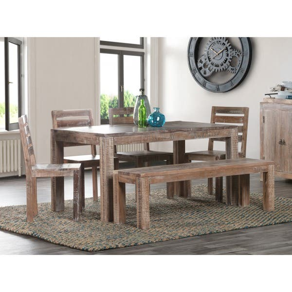 Reclaimed Wood 60 Inch Dining Table Overstock 20470136