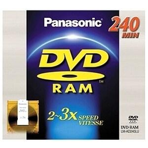 Panasonic 3x DVD-RAM Double-Sided Media #LMAD240LU