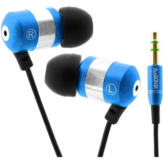 GOgroove AudiOHM Earbuds Earphones with Interchangeable Noise Isolating Ergonomic Ear Gels