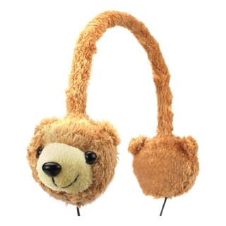 Groove Pal KDZ Kid Friendly Brown Bear Headphones with Volume Limiting Sound by Gogroove