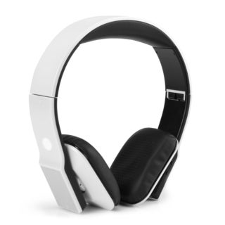 BlueVIBE DLX Wireless Bluetooth Over-Ear Headphones with High Def Audio Drivers and Playback Controls (White)
