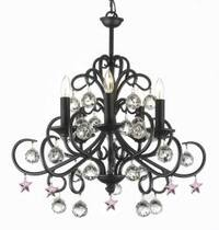 Bellora Crystal Wrought Iron Chandelier Lighting Empress Crystal