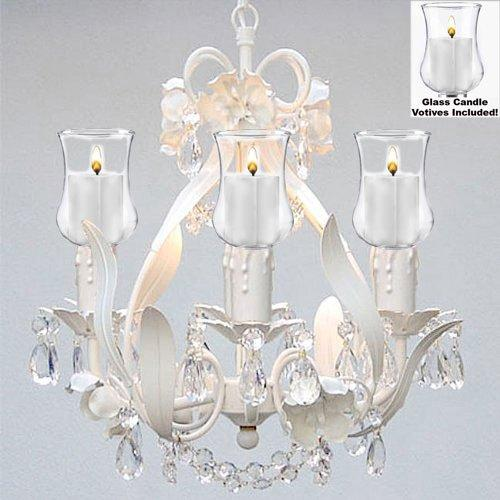 Empress Crystal Flower Chandelier Lighting With Candle Votives