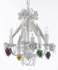Wrought Iron Floral Empress Crystal Chandelier Lighting