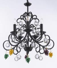 Bellora Empress Crystal Wrought Iron Chandelier Lighting With Faceted Crystal Balls